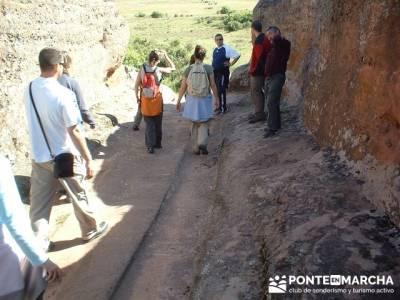 Yacimiento Arqueológico Celtibérico y Romano de Tiermes; marcha en madrid; senderismo con niños m